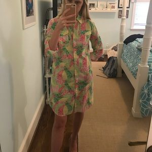 Lilly Pulitzer button down multicolor dress